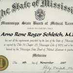 Arno R. Schleich MD License